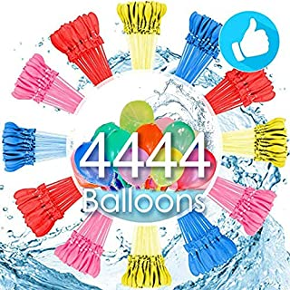 Water Balloons for Kids Girls Boys Balloons Set Party Games Quick Fill 444 Balloons 12 Bunches for Swimming Pool Outdoor Summer Fun