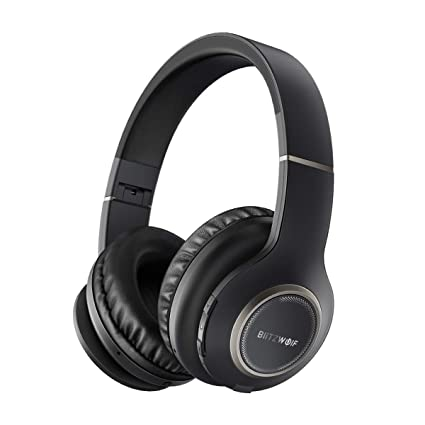 e3a9ab52d06 Active Noise Cancelling Bluetooth Headphones, BlitzWolf Wireless Headphones,  Wireless Foldable Over-Ear Headphones