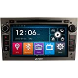 Pumpkin 7 Zoll 2 Din Autoradio Moniceiver DVD Player für Opel Astra 2004-2009 Corsa 2006-2011 Zafira 2005-2010 Meriva 2006-2008 Vivaro 2006-2010 Vectra 2005-2008 Antara 2006-2011 Unterstützt GPS Navigation Bluetooth CD VCD Lenkradfernbedienung