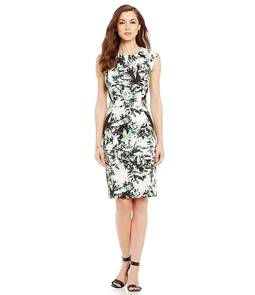 521c7875f13 Antonio Melani Esmie Printed Scuba Sheath Dress Size 10 at Amazon Women s  Clothing store