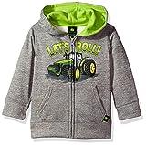 John Deere Baby Boys' Fleece Zip Poly Hoody, Grey, 3T