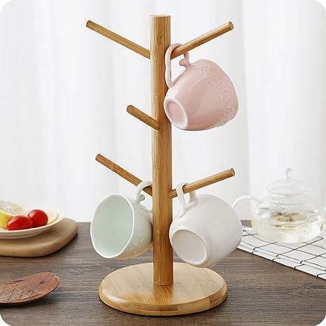 Mug Tree   Solid Wood Mug Holder   Mug Rack   Coffee Cup Rack   Coffee Cup Holder