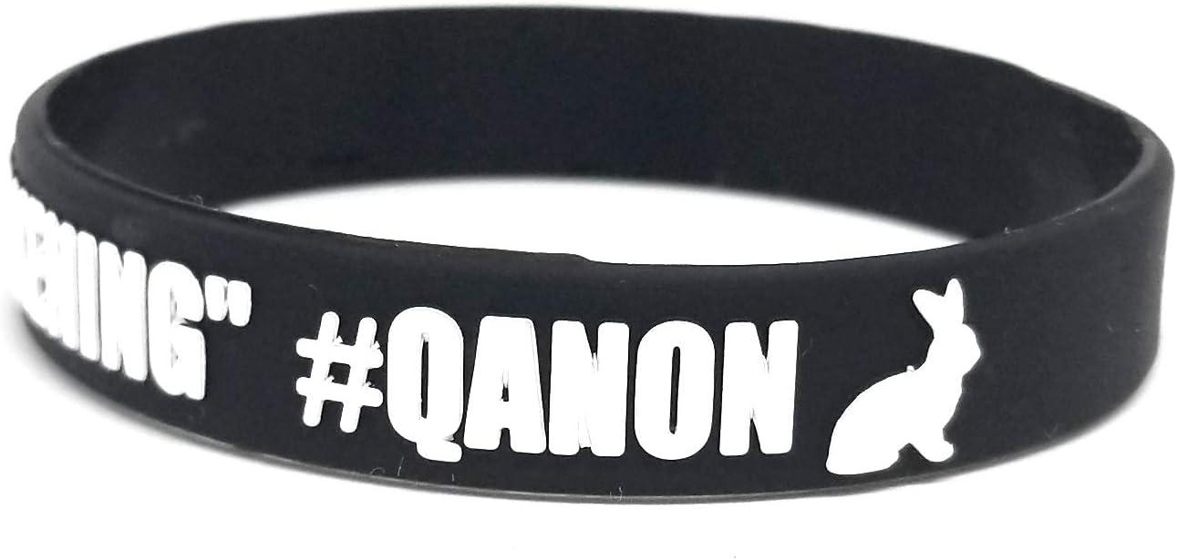 The Great Awakening Where We Go 1 We Go All Q 1 Qanon Silicone Wristband