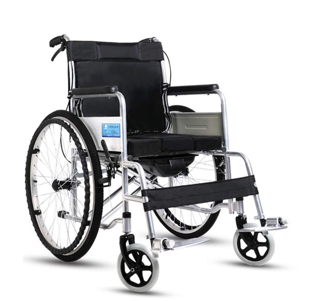 新品 HSBAIS 輸送車椅子 HSBAIS、折りたたみ式軽量ポータブル大人の車椅子調節可能なフットレストで簡単に移動可能,Black Black Black B07NLZSW43, 山崎町:8ee964de --- a0267596.xsph.ru