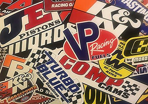 Crash Daddy Racing Decal Sticker 45 Piece Assortment ()