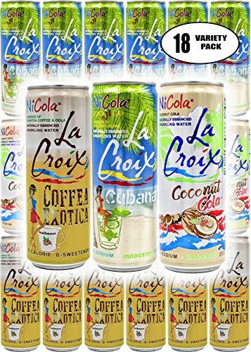 - La Croix NiCola Mojito, Coconut Cola, Coffea Exotica Sparkling Water, 12 Fl Oz Can (Pack of 18, Total of 216 Oz)