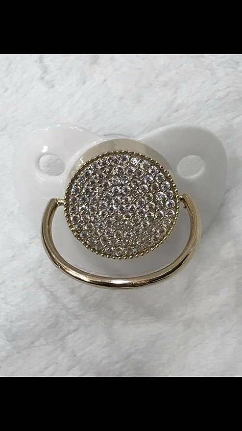 Baby Chupete Luxus Premium purpurina adornado con cristales ...