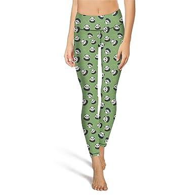 50b1858694533 Amazon.com: Women's Yoga Leggings with Pocket Pandas Eat Bamboo ...