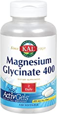 KAL Magnesium Glycinate 400 ActivGels | Soy-Free Liquid-Filled Softgels | For Relaxation and Healthy Muscle Function | 120 Softgels