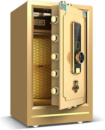 Gabinete Cajas - Cajas fuertes Cajas fuertes Muebles de oficina de la huella digital del hogar seguro de Acero Seguridad pequeña caja fuerte doble Password Safe almacenamiento de dinero (40*36*50 cm): Amazon.es:
