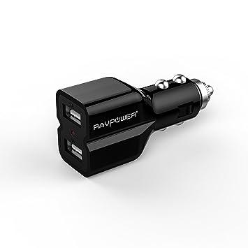 RAVPower RP-CC01 - Cargador de Coche con 2 Puertos USB 3.1A ...