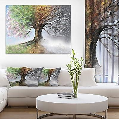 Tree Season Tree Of Life Cycle 5 panel canvas Wall Art Home Decor Print Poster