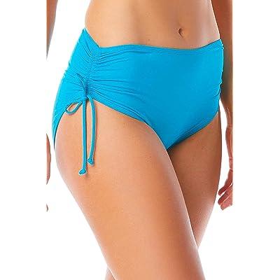 BEACH HOUSE SPORT Women's Hayden High Waisted Bikini Swimsuit Bottom with Adjustable Side Ties: Clothing