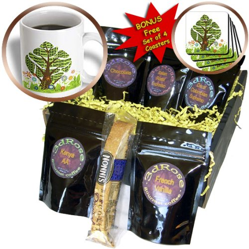 Doreen Erhardt New Year Collection - Persian New Year Tree of Seven Sacred Heralds of Life - Coffee Gift Baskets - Coffee Gift Basket - Herald New