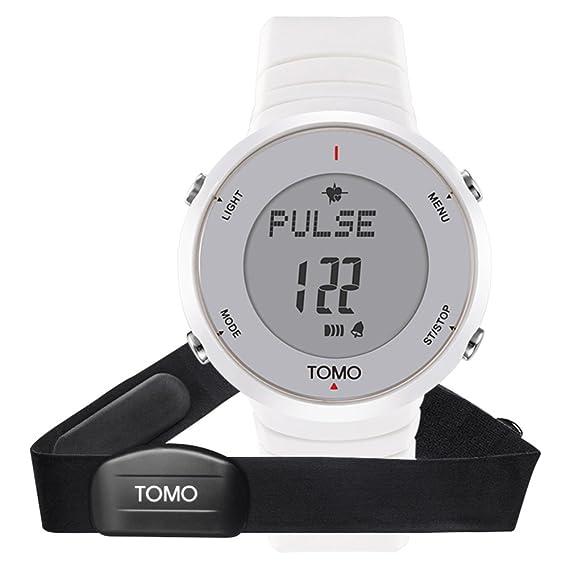 Reloj unisex,Deportes reloj multifunción digital led al aire libre corriendo podómetro pulso reloj electrónico resistente al agua-A: Amazon.es: Relojes