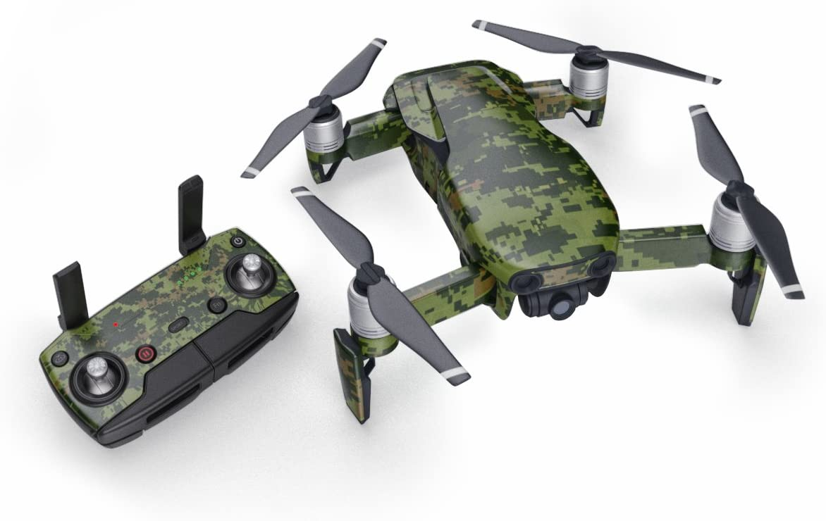 Anbee Waterproof Decal PVC Skin Decorative Stickers for DJI Mavic Air 2 Drone Quadcopter 4# Green Camouflage