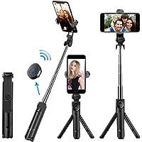 GiraVic Palo Selfie Trípode Bluetooth, Tripie para Celular, Mini Stick Movil Deportivo Extensible de Control Remoto para Viaje Autofoto 3 en 1 Monopie con Obturador Rotación de 360 Grados Huawei Xiaomi Android iOS