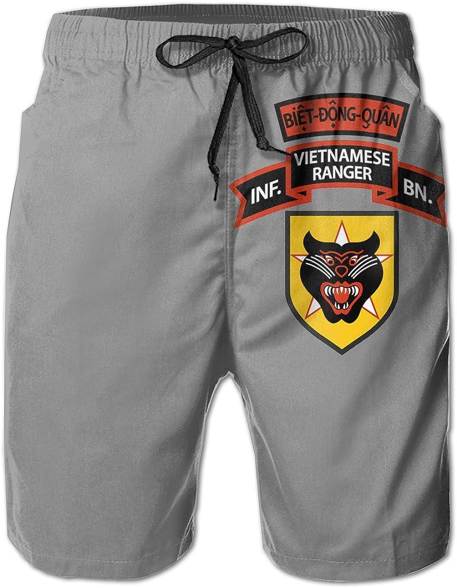 BDQ Vietnam Ranger Mens Casual Classic Fit Short Summer Beach Shorts