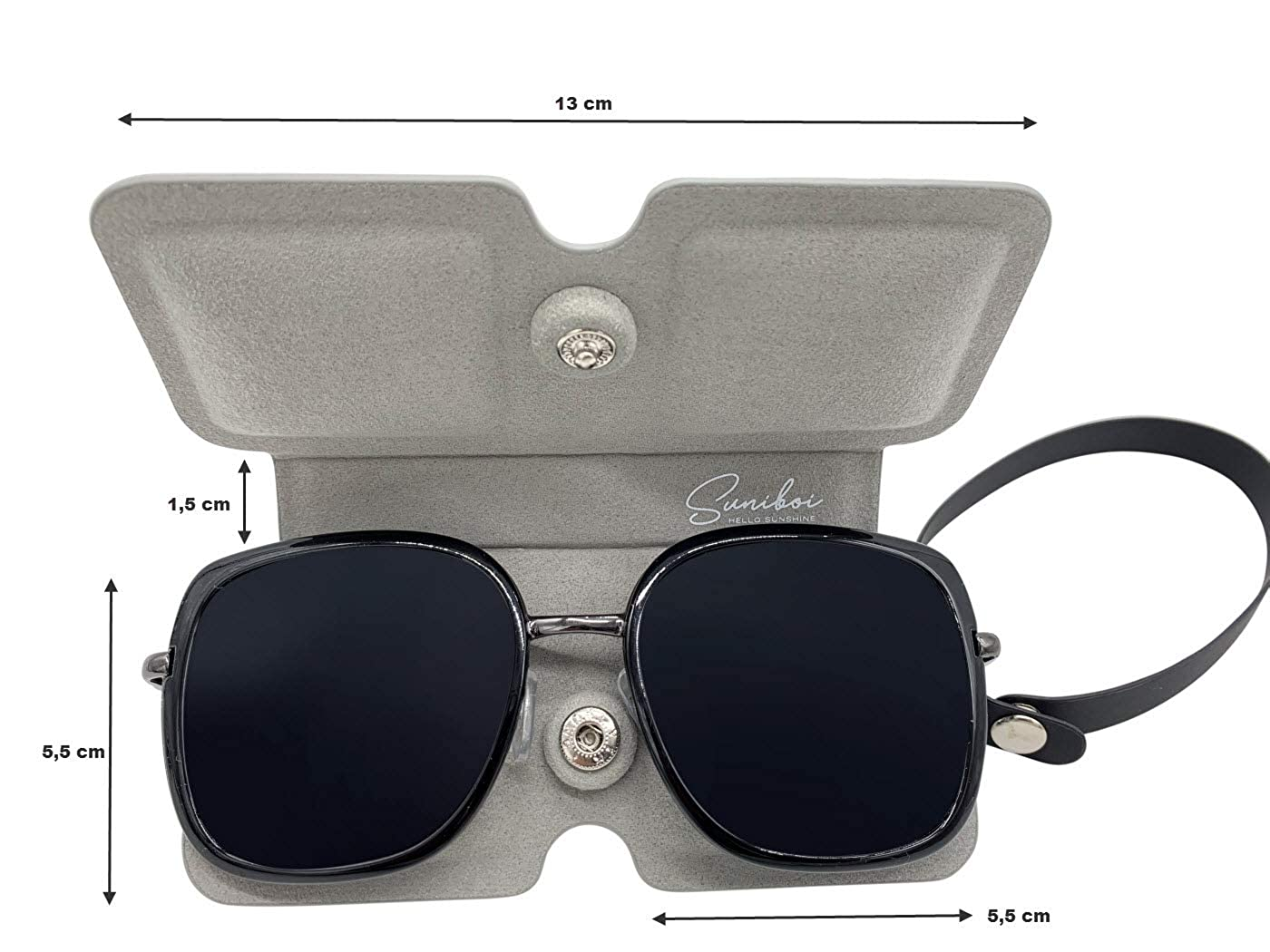 Brillentasche f/ür Damen und Herren Softcase zum Anh/ängen an die Tasche oder G/ürtel Lesebrillen Etui Suniboi Brillenetui f/ür Brillen /& Sonnenbrillen