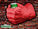 foam fist beverage holder - Uberfist Left Hand Hulk Foam Fist Drink Holder, Red