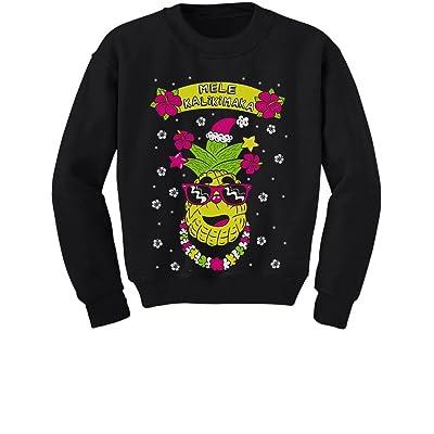 Tstars Mele Kalikimaka Hawaiian Pineapple Ugly Christmas Youth Kids Sweatshirt
