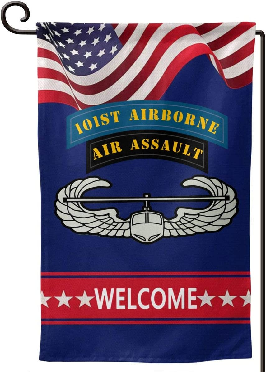 Us Army 101st Airborne Air Assault Garden Flag 12.5 X 18 in Size Banner for House Decoration Banner Outside Yard Mailbox Banner Double-Sided Printing