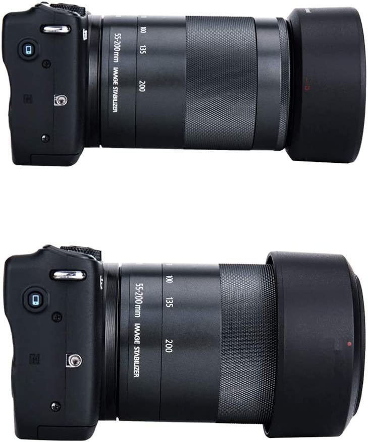 HyxppthiAAccessory Hyx ET54-B Lens Hood Shade for Canon EF-M 55-200mm STM Lens Lens Hood