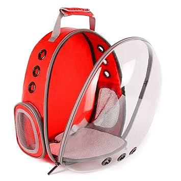 Backpack Gato al Aire Libre llevando Mochila, Espacio cápsula Mascota Portador para Perro pequeño, Transparente Impermeable Gato Holding Mochila, Red: ...
