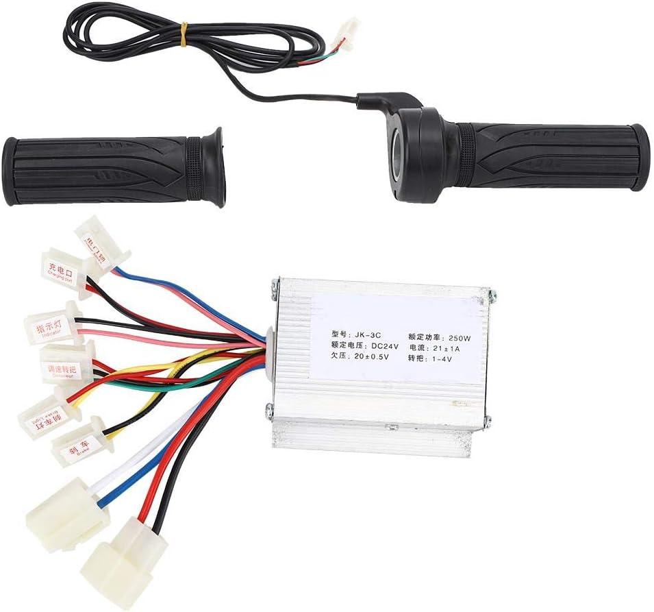 Brush Controller 24V250W Brush E-Bike Controller e set di manopole acceleratore per pollice lungo linea universale