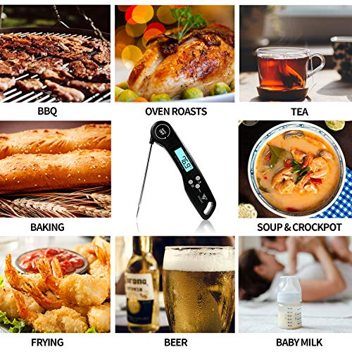 DOQAUS Instant Read Cooking Thermometer Digital Food LCD Long Meat Thermometer