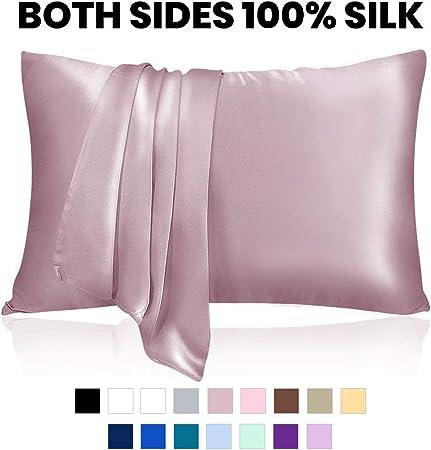 2Pcs Soft 100/% Pure Silk Pillowcase Covers Pillow Case Cushion Queen Home Decors