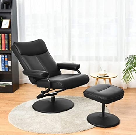 Outstanding Amazon Com Leather Recliner Chair Modern Swivel Rotating Gmtry Best Dining Table And Chair Ideas Images Gmtryco