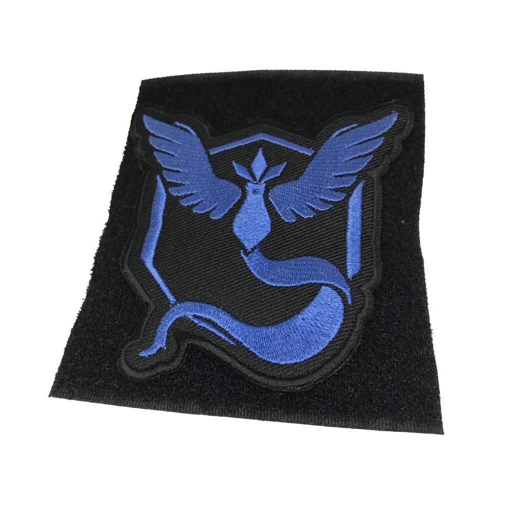 OYSTERBOY Pocketmon Go Gym Team Valor//Mystic//Instinct Embroidery Sew Iron-on Patch Blue - Mystic Hook Back