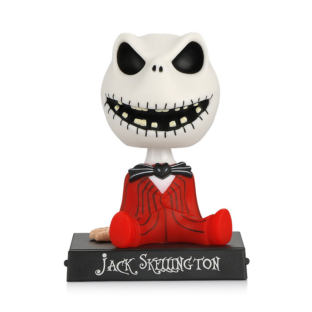 XIE Car Ornaments PVC Jack Skeleton Action Figure Shaking Head Doll Dashboard Decoration The Nightmare Before Christmas Jack Toys