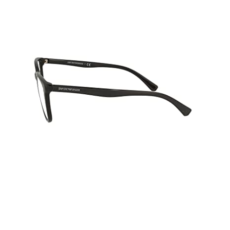 f8364c4bfb Eyeglasses Emporio Armani EA 3127 5001 BLACK at Amazon Men s Clothing store