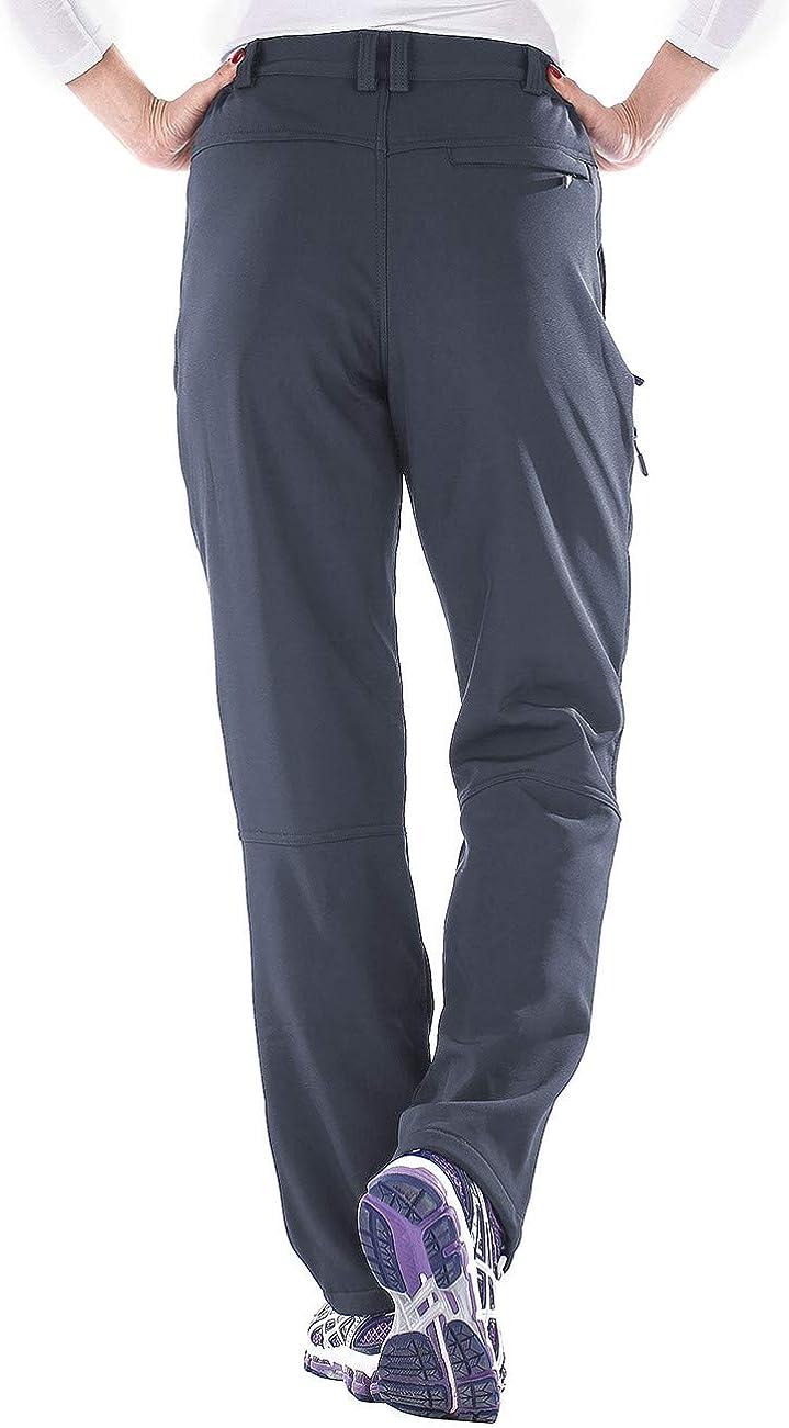 Unitop Womens Winter Outdoor Warm Water-Resistant Fleece Lined Ski Snow Pants
