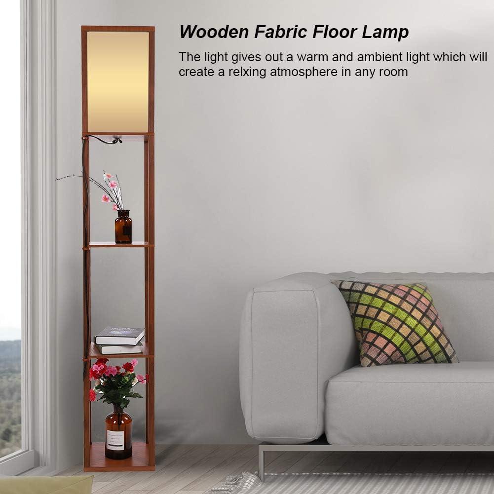 Ejoyous Lámpara de pie de Madera de iluminación Interior con baldas para dormitorios y Salones(marrón): Amazon.es: Deportes y aire libre