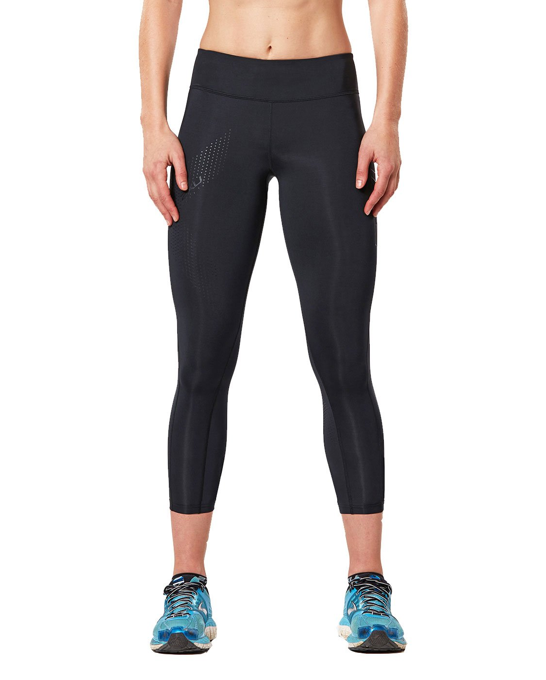 2XU Women's Mid-Rise 7/8 Compression Tights, Black/Dotted Black Logo, X-Small by 2XU (Image #2)
