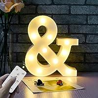 WHATOOK Letras Luminosas Decorativas con Luces LED, con temporizador inalámbrico y mando a distancia regulable…