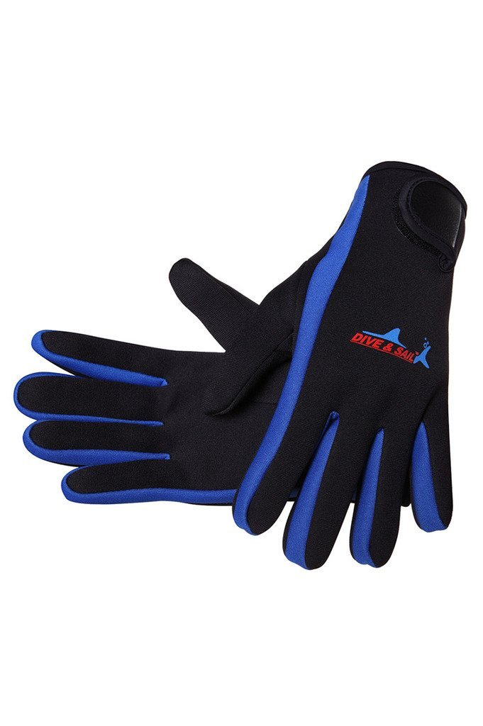 DIVE SAIL Wetsuits 1.5 mm Premium Neoprene Gloves Scuba Diving Five Finger Glove