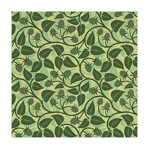 - iPrint Satin Square Tablecloth,Fruits,Raspberry Leaves Mediterranean Garden Style Growth Season Nature Theme Decorative,Olive and Pale Green,Dining Room Kitchen Table Cloth Cover