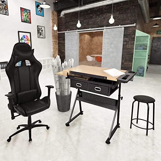 tidyard - Conjunto de mobiliario de Oficina (1 Mesa de Dibujo ...
