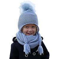 Hilltop 100% algodón: Conjunto de invierno para niños conjunto de bufanda redonda y gorro con orejeras a juego. Para…