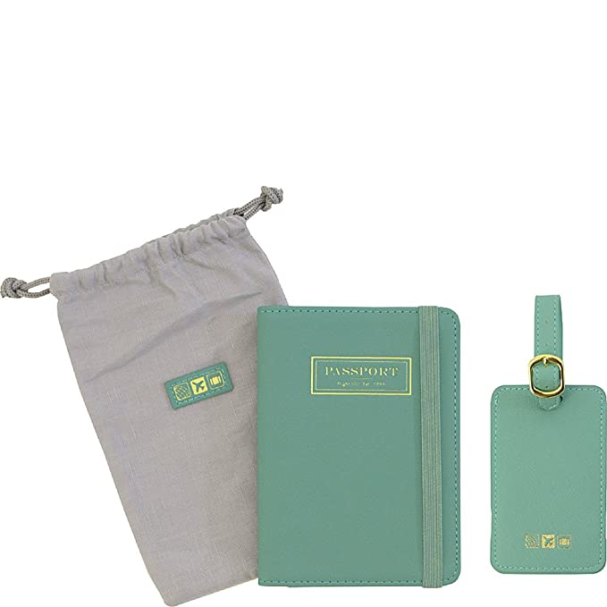 b52cec9635b Flight 001 Correspondent Passport Holder and Luggage Tag Set (Spearmint)