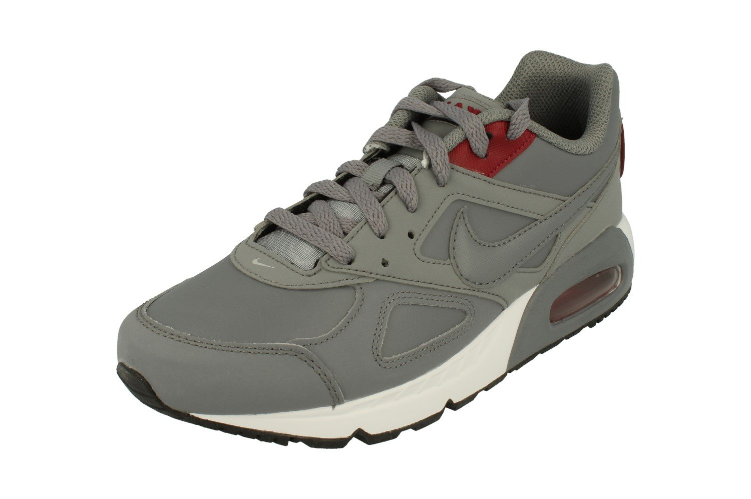 NIKE Air Max IVO Mens Running Shoes B00968ZPP2 7.5 D(M) US|Cool Grey Team Red 006