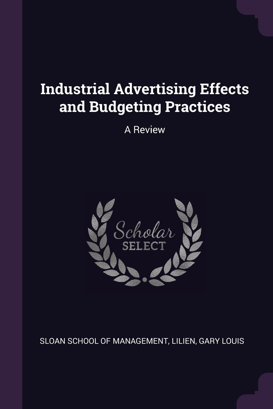 Read Online Industrial Advertising Effects and Budgeting Practices: A Review pdf