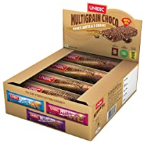 Unibic Snack Bar Multigrain Choco, 12 x 30 g