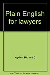 Plain English for lawyers Paperback