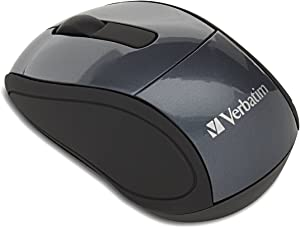 Verbatim Wireless Mini Travel Optical Mouse - Graphite - 97470