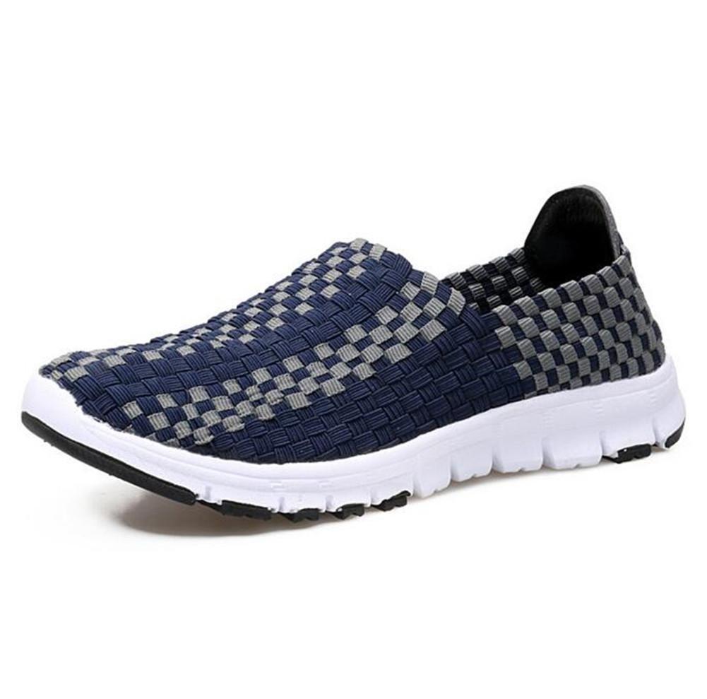 XIE Zapatos de Mujer Zapatos Hechos a Mano Deportes Zapatos Casuales Zapatos de Zapatos Perezoso, Navy Blue, 37 37|navy blue